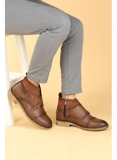 Ayakland Ayakland 5200 Cilt Termo Taban Erkek Bot Ayakkabı Taba
